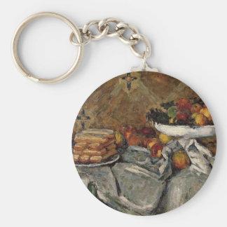 Paul Cezanne- Compotier y placa de galletas Llaveros Personalizados