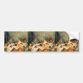 Paul Cezanne- Curtain Jug and Fruit Bumper Sticker