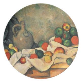 Paul Cezanne- Curtain, Jug and Fruit Dinner Plates