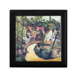 Paul Cezanne - curva del camino Caja De Regalo