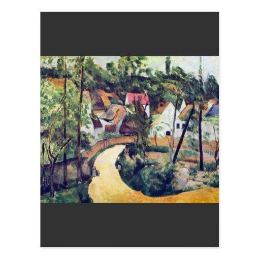 Paul Cezanne - curva del camino Tarjeta Postal