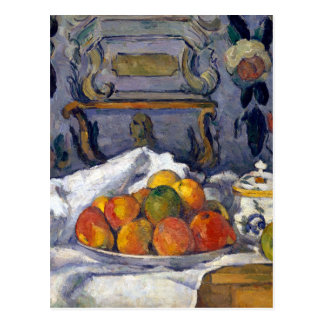 Paul Cezanne Dish of Apples Postcard