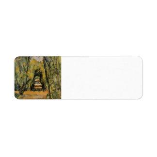 Paul Cezanne- el callejón en Chantilly Etiquetas De Remite