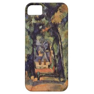 Paul Cezanne- el callejón en Chantilly iPhone 5 Case-Mate Cobertura
