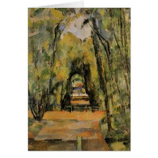 Paul Cezanne- el callejón en Chantilly Tarjeta De Felicitación