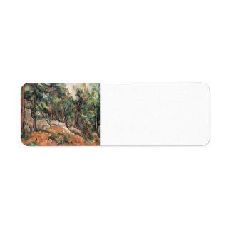 Paul Cezanne- en el bosque Etiquetas De Remite