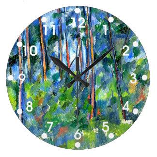 Paul Cezanne: En las maderas, pintando por Cezanne Reloj De Pared
