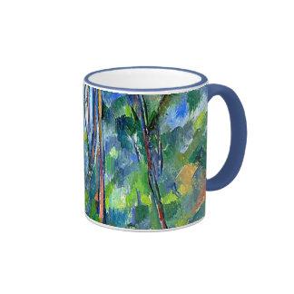 Paul Cezanne: En las maderas, pintando por Cezanne Taza