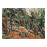 Paul Cezanne - en las maderas Poster