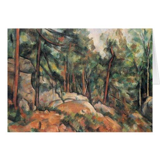 Paul Cezanne - en las maderas Tarjeta De Felicitación