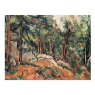 Paul Cezanne - en las maderas Tarjeta Postal