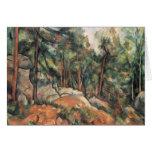 Paul Cezanne - en las maderas Tarjetas