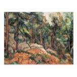 Paul Cezanne - en las maderas Tarjetas Postales