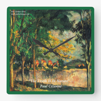 Paul Cezanne Famous Painting & Quote Wall Clock