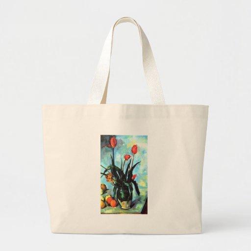 Paul Cezanne - florero de tulipanes Bolsas