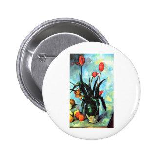 Paul Cezanne - florero de tulipanes Pin