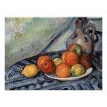 Paul Cezanne - Fruit and a Jug on a Table Photo Print