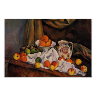 Paul Cezanne- Fruit Bowl, Pitcher and Fruit Posters