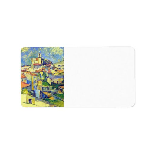 Paul Cezanne - Gardanne Custom Address Label