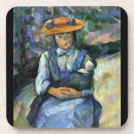 Paul Cezanne - Girl with Doll Drink Coaster