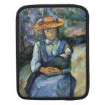 Paul Cezanne - Girl with Doll iPad Sleeves
