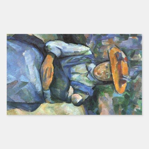 Paul Cezanne - Girl with Doll Sticker