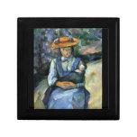 Paul Cezanne - Girl with Doll Trinket Box