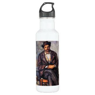 Paul Cezanne - granjero que se sienta Botella De Agua De Acero Inoxidable