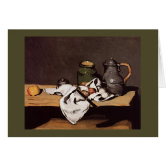 Paul Cezanne ~  Green Pot and Pewter Jug  1870 Card