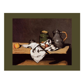 Paul Cezanne ~  Green Pot and Pewter Jug  1870 Postcard