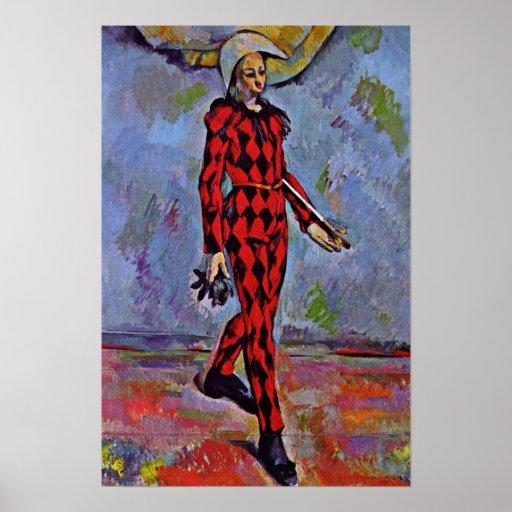 Paul Cezanne - Harlequin Póster