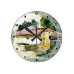 Paul Cezanne- House in Provence Wallclocks