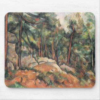 Paul Cezanne- In the Forest Mouse Pads