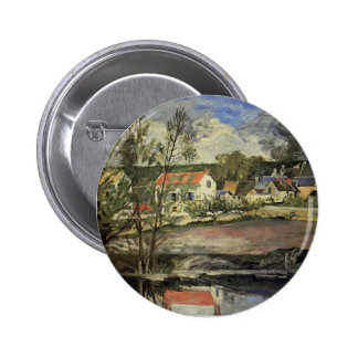 Paul Cezanne- In the Oise Valley Pinback Button