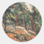Paul Cezanne - In The Woods Classic Round Sticker