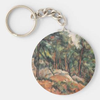 Paul Cezanne - In The Woods Keychain