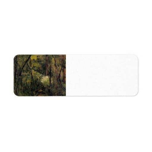 Paul Cezanne- In the Woods Custom Return Address Labels