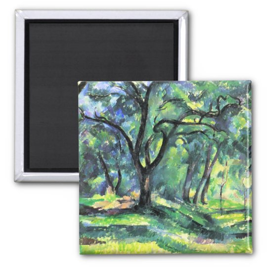 Paul Cezanne - In the Woods Magnet