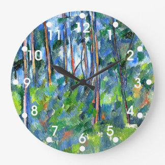 Paul Cezanne: In the Woods, painting by Cezanne Large Clock