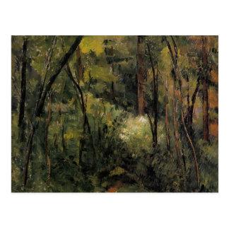 Paul Cezanne- In the Woods Postcard