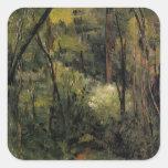 Paul Cezanne- In the Woods Sticker