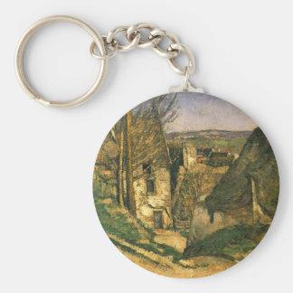 Paul Cezanne- la casa del hombre colgado en Auvers Llaveros