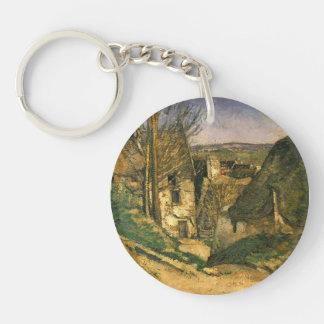Paul Cezanne- la casa del hombre colgado en Auvers Llavero