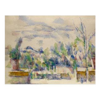 Paul Cezanne - la terraza en el jardín Postal