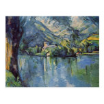 Paul Cézanne - lago annecy Postal