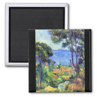 Paul Cezanne - Land scape Fridge Magnets