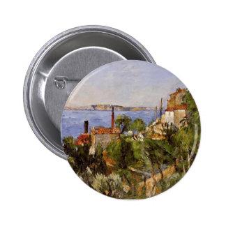 Paul Cezanne- Landscape. Study after Nature Button