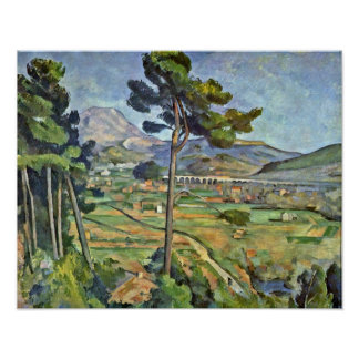 Paul Cezanne - Landscape with Viaduct Poster