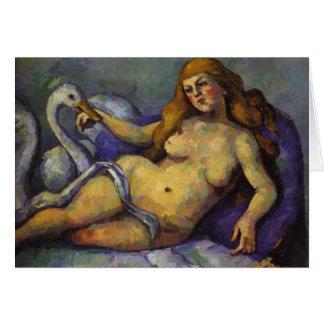 Paul Cezanne - Leda with Swan Card