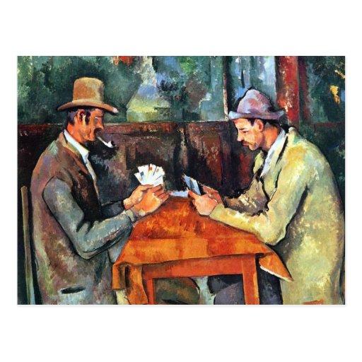 Paul Cézanne, Les joueurs de carte (Postcard)